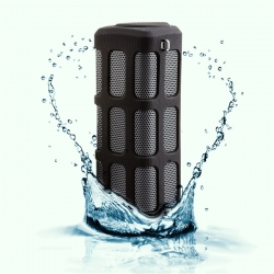QUAZAR HIFI 360 fokos hangszóró 5.000 mAh-s powerbankkel fekete (QZR-SP01)
