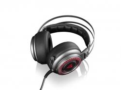 Modecom Volcano Saber fekete-ezüst  mikrofonos gamer fejhallgató (S-MC-833-SABER)