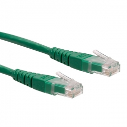 ROLINE CAT6 0.5m zöld UTP Kábel