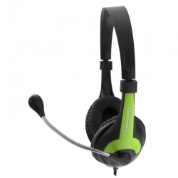 ESPERANZA ROOSTER fekete-zöld mikrofonos fejhallgató (EH158G)
