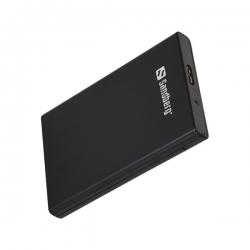 Sandberg Külső HDD Ház - USB 3.0 to SATA Box 2.5'' (fekete; 2,5'' Sata HDD max 9,5mm; 5Gbit/s)
