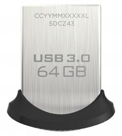 SANDISK CRUZER FIT ULTRA 64GB USB3.0 130MB/s Fekete-Ezüst Pendrive (124055)