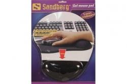 Sandberg 520-23 zselés csuklótámaszos fekete egérpad