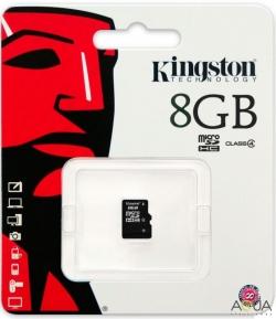 Kingston SDC4 8 GB Class 4 UHS-I MicroSDHC memóriakártya (SDC4/8GBSP)