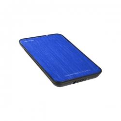 Sharkoon Külső HDD Ház 2.5'' - QuickStore Portable (kék; max 9,5mm 2,5'' Sata HDD - USB csatl.; szálcsiszolt felső r.)