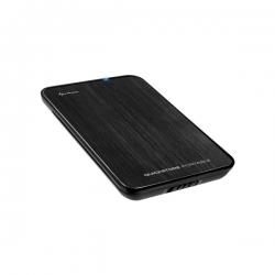 Sharkoon Külső HDD Ház 2.5'' - QuickStore Portable U3 (fekete; max 9,5mm 2,5'' SataHDD - USB3.0 csatlakozó; szálcsiszolt)