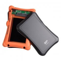 Silicon Power Külső ház 2,5'' - ARMOR A30 (SATA, Fekete, USB 3.0, 7mm, Ütésálló és porálló)