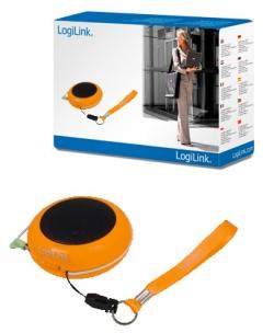Logilink Hordozható MP3 hangszóró, narancs(SP0016)