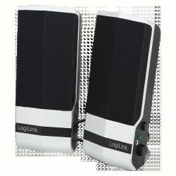 LogiLink USB2.0 aktív asztali hangszóró, ezüst (SP0026)