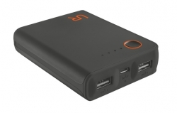 Trust Cinco  10400 Portable Charger fekete-narancs PowerBank (20495)