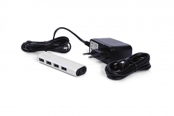 Belkin UltraSlim Metal 4 portos ezüst USB HUB (F4U038qebAPL)
