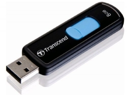 Transcend JetFlash 500 8GB USB2.0 Fekete-Kék Pendrive (TS8GJF500)