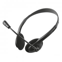 Trust Fejhallgató - Primo (mikrofon; hangerőszabályzó; 3.5mm jack; fekete)