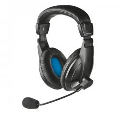 Trust Fejhallgató - Quasar (mikrofon; hangerőszabályzó; 3.5mm jack; nagy-párnás; fekete)