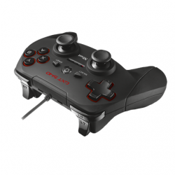 Trust Gamepad - GXT 540 Yula (Playstation design; fekete; PC és PS3 kompatibilis.)