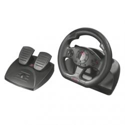 Trust Kormány - GXT 580 Sano Vibration (Rezgés visszacsatolás; kormány+pedálok+váltó; 180fokos elfordulás; PC/PS3 komp.)