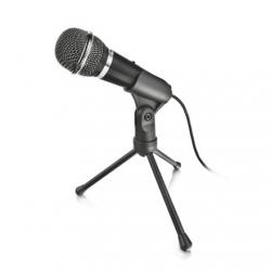 Trust Mikrofon - Starzz (Studió design; 3.5mm jack csatlakozó; 250cm kábel; állvány; fekete)