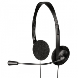 HAMA HS-101 mikrofonos fekete headset (53999)