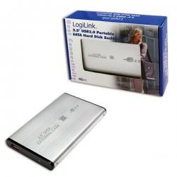 LOGILINK 2,5'' KÜLSŐ SATA HDD HÁZ (EZÜST) - USB 2.0 (UA0041A)
