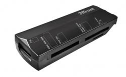 Trust Stello USB fekete mini memóriakártya olvasó (17682)