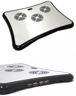 Esperanza Breeze 15,6'' fekete-ezüst 4 USB portos notebook hűtő (EA102)