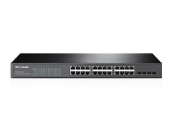 Tp-Link T1600G-28TS JetStream 24 portos gigabites switch 4 db SFP lehetőséggel