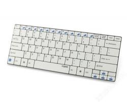 Rapoo E6100 Bluetooth magyar fehér billentyűzet (157188)