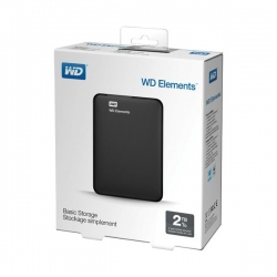 Western Digital Külső HDD 2.5'' 2TB - WDBU6Y0020BBK-WESN (Elements Portable, USB3.0, Fekete)