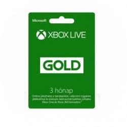 Microsoft Xbox Live 3 hónapos Gold Card előfizetés (S2T-00009)