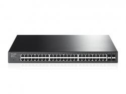 TP-Link T1600G-52PS JetStream 48 portos gigabites smart PoE+ switch 4 db SFP lehetőséggel