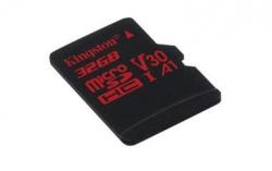 Kingston microSDHC Canvas React 32GB 100/70 U3 UHS-I V30 A1 Single Pack w/o Adp Memóriakártya (SDCR/32GBSP)