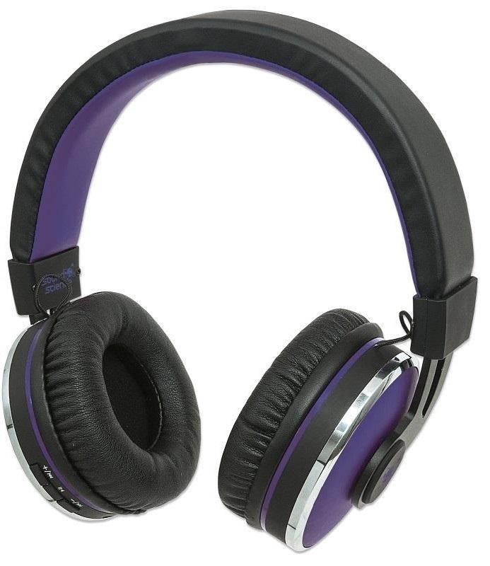 Manhattan Sound Science Cosmos fekete-lila bluetooth mikrofonos fejhallgató  (178372) 2f06fe7230