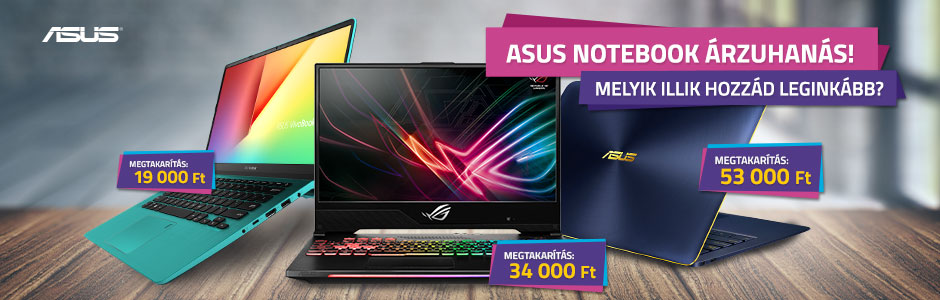 ASUS notebookok akciósan!