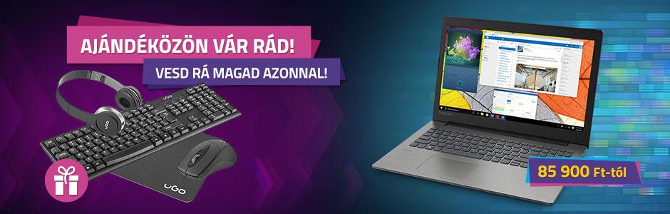 Dell, HP és Lenovo notebookok ajándékcsomaggal!