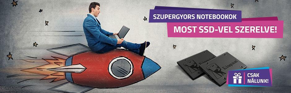 SSD-vel szerelt notebookok, most változatlan áron