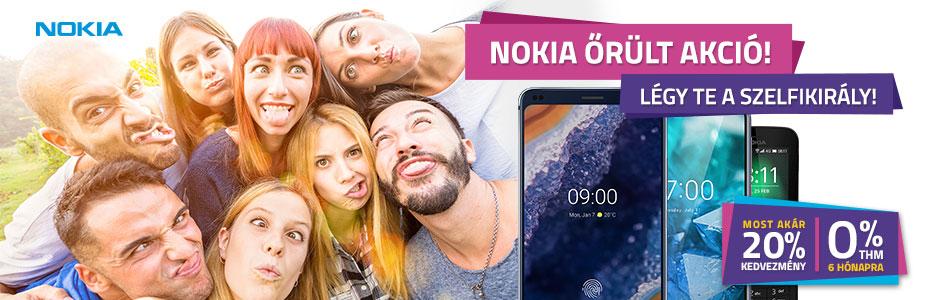 Nokia klasszikus és okostelefonok akár 20% kedvezménnyel és 0% THM-el!