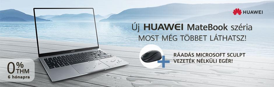 Huawei MateBook előrendelés, most akár 0% THM-el!