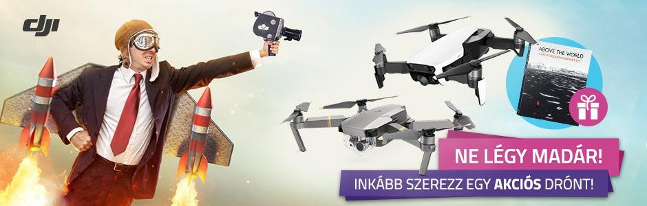 DJI drónok hihetetlen áron, ajándékkal!
