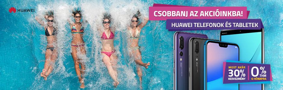 Huawei okostelefonok, tabletek akár 27% kedvezménnyel és 0% THM-el!
