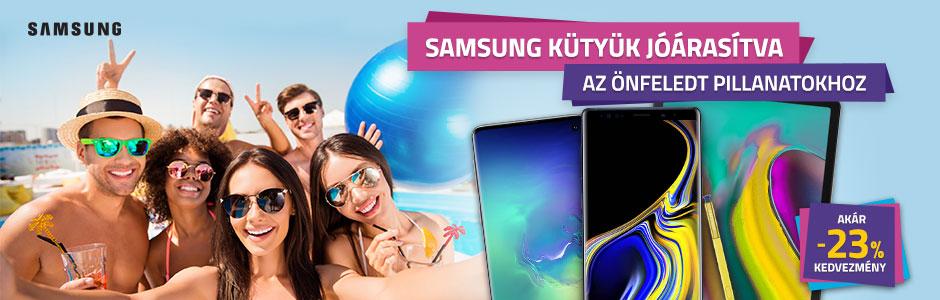 Samsung okostelefonok, tabletek akár 23% kedvezménnyel és 0% THM-el!