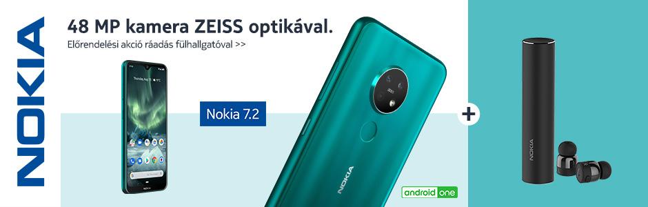 Nokia 7.2 előrendelés ráadás fülhallgatóval!!