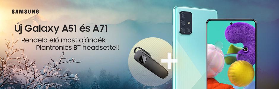 Samsung Galaxy A51 és A71, most ajándékkal!