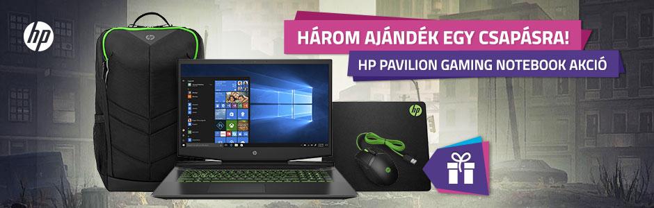 HP Pavilion Gaming notebookok ajándékkal!