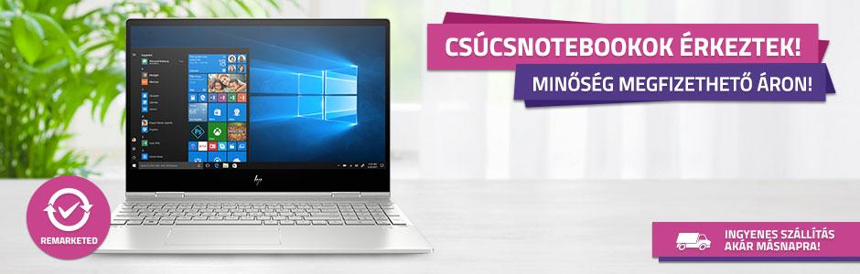 Válassz remarketed notebookot készletről!